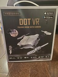 Protocol DOT VR Foldable Drone with Camera and Wifi Capability Black White C $25.00