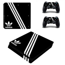 Choose Your Console - Adidas Black - Vinyl Skin + 2 Controller Skins [0172]