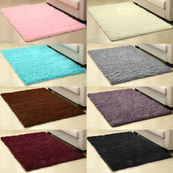 Fluffy Rugs Anti Skid Shaggy Area Rug Living Room Bedroom Floor Mat Carpet 6Size $59.99