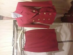 LOUBEN SKIRT SUITS Size 6 Brick Red $29.99