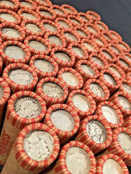 OLD US SILVER DIMES COINS WHEAT PENNY LINCOLN CENT BANK ROLL VINTAGE SET $16.50