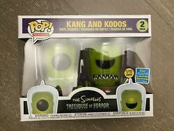 Funko POP Kang and Kodos GITD 2-Pack SDCC Simpsons Shared Excl. ***READ4