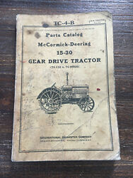 McCormick Deering 15 30 Antique Tractor Manual TC-4-B John Deere Hit Miss Engine