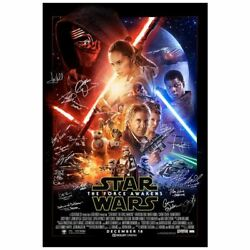 Ford Hamill Star Wars The Force Awakens Cast Autographed Original 27x40 Poster