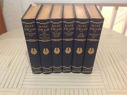 Mark Twain 6 Book Set Authorized Illustrated Editions Collier Antique 1917-1922