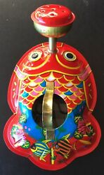 """1960's TIN LITHO Watering Can """" Child's Toy"""" Made in Japan"""