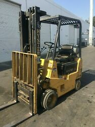 Hyster Forklift Warehouse Type 3000 lbs Three Stage Mast Sideshifter