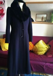 Stunning Jacques Vert woolcashmere coat faux fur collar. Superb condition