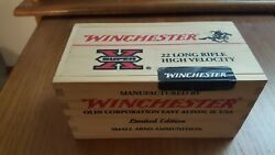 Winchester 22 Long Rifle High Velocity Limited Edition Empty Wood Ammo Box