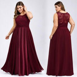 Ever-Pretty US Plus Size Long Party Bridesmaid Dress Chiffon Evening Party Gowns $31.49