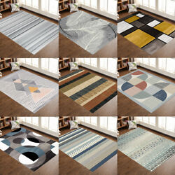 Contemporary Modern Soft Area Rugs Nonslip Velvet Home Room Carpet Floor Mat Rug $35.99