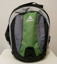 ADIDAS Black amp; Green Student Backpack w 2 Large Pockets amp; Adjustable Straps $20.00