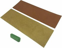 2 Piece French Leather Strop Kit 3 x 10quot; each with 1.2 oz Chromium Oxide $9.99