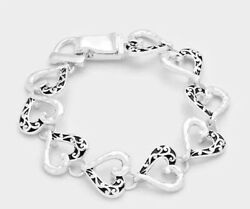 Brighton Beach Filigree Metal Heart Link Magnetic Bracelet