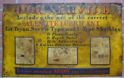 ALEMITE LUBRICANT Sign Old Embossed Tin Gas Station Repair Shop Advertising $595.00