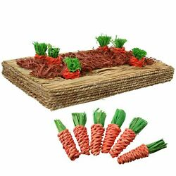 Small Animals Rabbit Guinea Pigs Toy Carrot Play Patch amp; 12 Sisal Carrots C $38.83