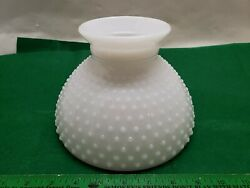 Lamp Shade Milk Glass Hobnail 8