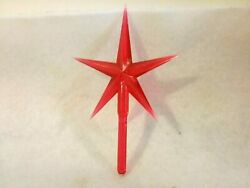 Red Modern Large Star for Ceramic Christmas Tree Topper $2.79