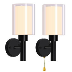 LED Glass Wall Sconce Lighting Lamp Modern Wall Light Fixture Lamp Cup Bedroom $18.99