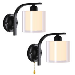 8in Modern LED Clear Globe Glass Wall Sconce Lamp Lighting Bedroom Light Fixture $22.90