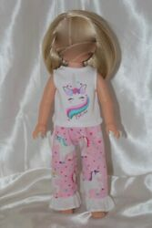 Dress Outfit fits 14inch American Girl Wellie Wishers Doll Clothes Unicorn Heart $10.75