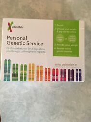 DNA Saliva Kit 23 and Me Personal Genetic Service For Ancestry & Health