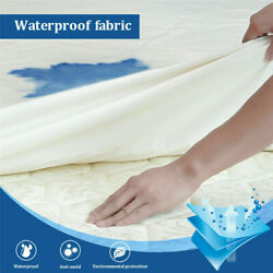 Fitted Mattress Cover Protect Waterproof Pad Twin Full Queen King Size Bed Cover $55.49
