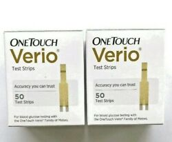 One Touch VERIO Test Strips Glucose100 count- Exp MAR 2021 2x50 OneTouch *Sale*