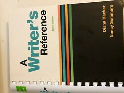 Writers Reference 9e by Diana Hacker Nancy Sommers 2018 9th Edition spiral bound