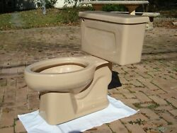 Vintage Retro Kohler Elongated K4211 Autumn Harvest 1983 Toilet
