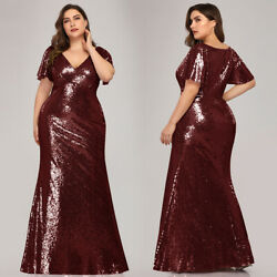 Ever-Pretty US Plus Size Sequins Long Evening Dress Bodycon Bridesmaid Gown 7988 $42.29