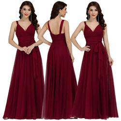 Ever-Pretty US Plus Size Mesh Long Bridesmaid Dress Wrap Evening Party Prom Gown $38.69