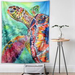 Colorful Sea Turtle Tapestry Wall Hanging Wall Art Decor for Bedroom Living Room $13.99