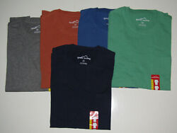 EDDIE BAUER Navy Green Blue Gray Brown Pocket Basic T Shirt Mens M L XL XXL XXXL $14.95