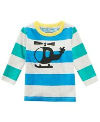 First Impressions Toddler Boys Helicopter Graphic Striped Cotton 2T T Shirt NWT $14.97