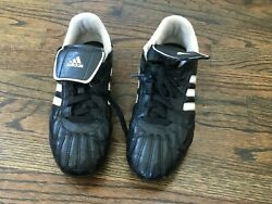 ADIDAS TRAXION HG BOYS SOCCER CLEATS US SIZE 5.5Y 749822 BLK amp; WHITE $4.00