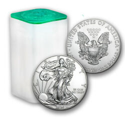 2020 1 oz American Silver Eagle Lot Roll of 20 Twenty $1 Coins in Mint Tube $582.70