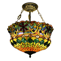 Stained Glass Chandelier Crafts Mission Victorian Ceiling Light Fixture 5 lamp $194.99