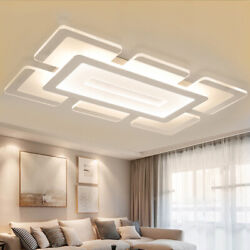 Rectangular Acrylic Modern LED Ceiling Light Living Room Bedroom Chandelier $79.99