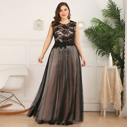 Ever-Pretty US Plus Size Lace Floral Long Evening Dress A-Line Holiday Prom Gown $42.29