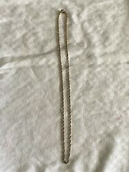 """Vintage NS 8"""" Gold Filled Thin Chain Necklace EUC $8.99"""