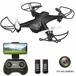 Tech RC Mini Drone Quadcopter FPV HD Camera for Beginner 20 Mins Flight US Stock $41.35