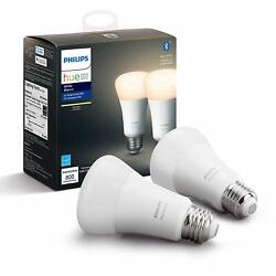 Philips Hue 2 Pack A19 WHITE LED Smart Bulb Bluetooth amp; Zigbee compatible Alexa $24.99