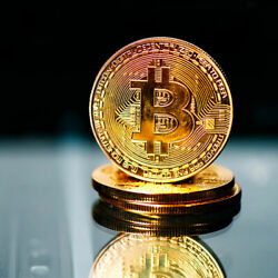 Best buy BITCOIN Gold Plated Physical Commemorative Collector Gift Issue Coin $5.39
