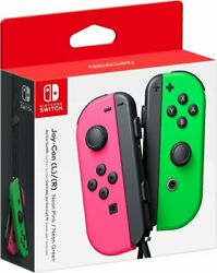 Nintendo Switch Joy-Con (L/R) Wireless Controller Neon Pink Neon Green Brand New $88.85