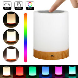 LED Touch Sensor Dimmable Table Lamp Baby Room Sleeping Aid Bedside Night Light $17.48