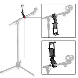 Music Microphone Stand Mount Holder Adjustable for Cellphone and Tablet PC Ipad $13.99