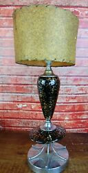 Vintage MID Century Modern 50s Atomic Table Lamp Light WShade NEEDS REWIRE