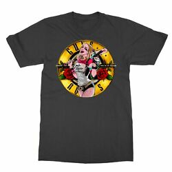 New Harley Quinn Rose Limited Edition Men#x27;s T Shirt $12.49