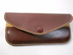 vintage eye glass cases 2x black and brown $5.00